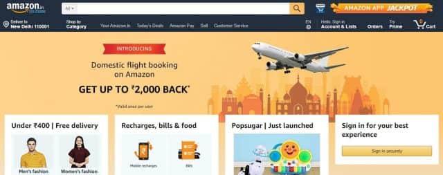 amazon no1 ecommerce company in india