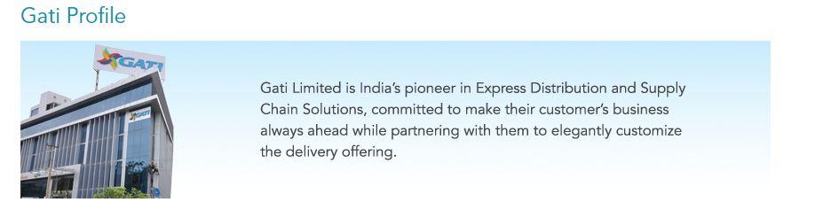 Gati top 10 logistics companies in India.