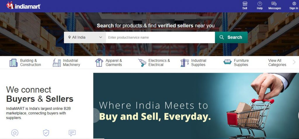 India MArt |Top Ecommerce companies in india