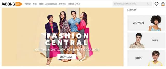 jabong top ecommerce company in india