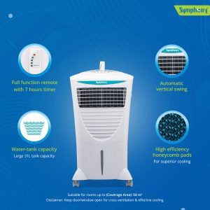 Symphony Hicool I 31-Litre Air Cooler with Remote-For Medium room2