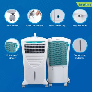 Symphony Hicool I 31-Litre Air Cooler with Remote-For Medium room
